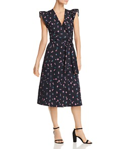 Rebecca Taylor - Farren Flower-Print Wrap Midi Dress
